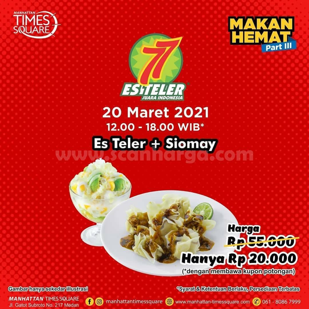ES TELER 77 Promo Paket Makan Hemat - Beli Es Teler + Siomay hanya Rp 20.000