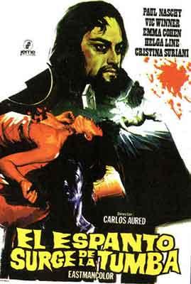 El Espanto surge de la Tumba, Carlos Aured y Paul Naschy en esta emblematica película