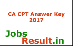 CA CPT Answer Key 2017