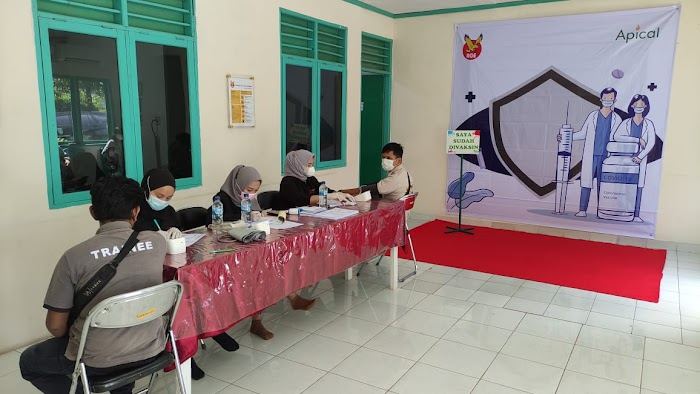 Apical Gelar Vaksinasi Gotong Royong Tahap II di Dumai