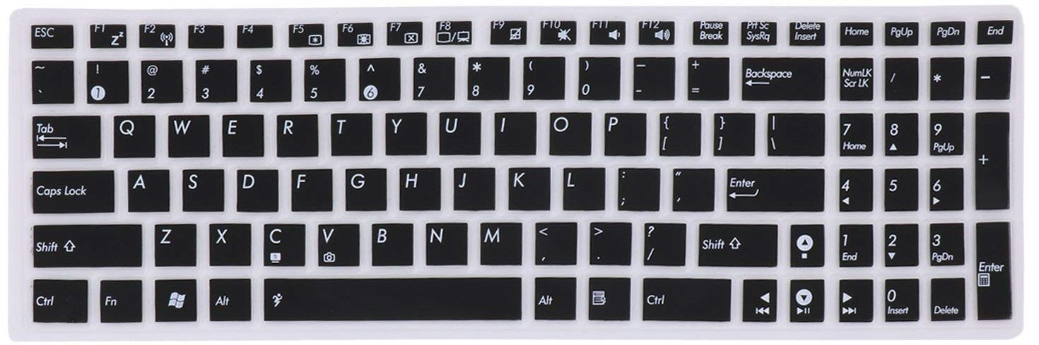 Saco Chiclet Keyboard Skin for 15.6-inch Laptop Asus Vivobook