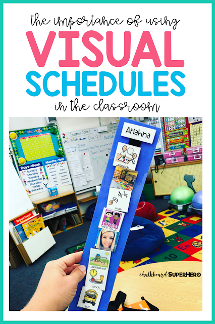 using visual schedules in the special needs classroom