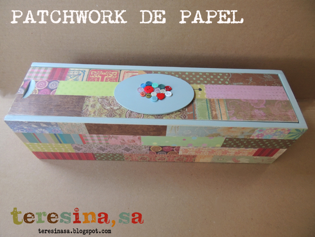 caja de vino reciclada en costurero - Cajas De Vino Decoradas