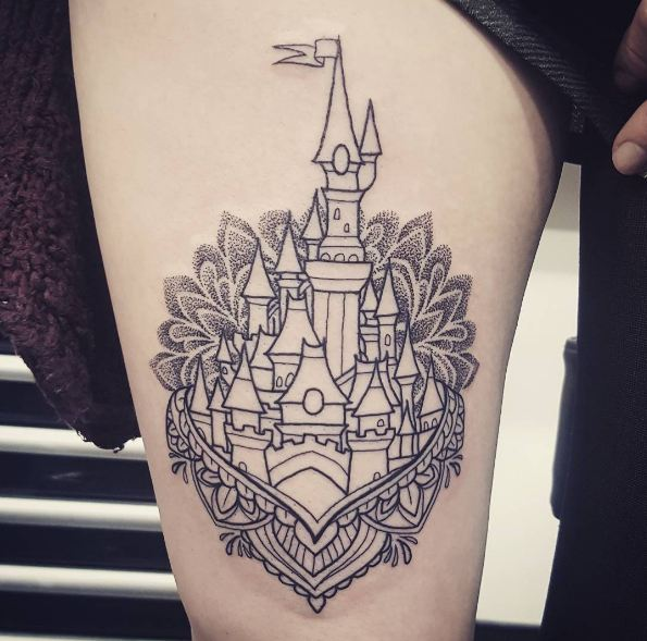 50 Unique Thigh Tattoos For Women 2019 Upper Front Side