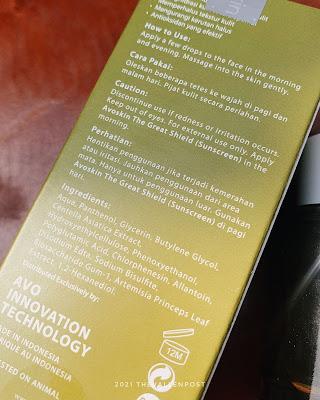 Avoskin Your Skin Bae Panthenol 5% + Mugwort + Cica ingredients