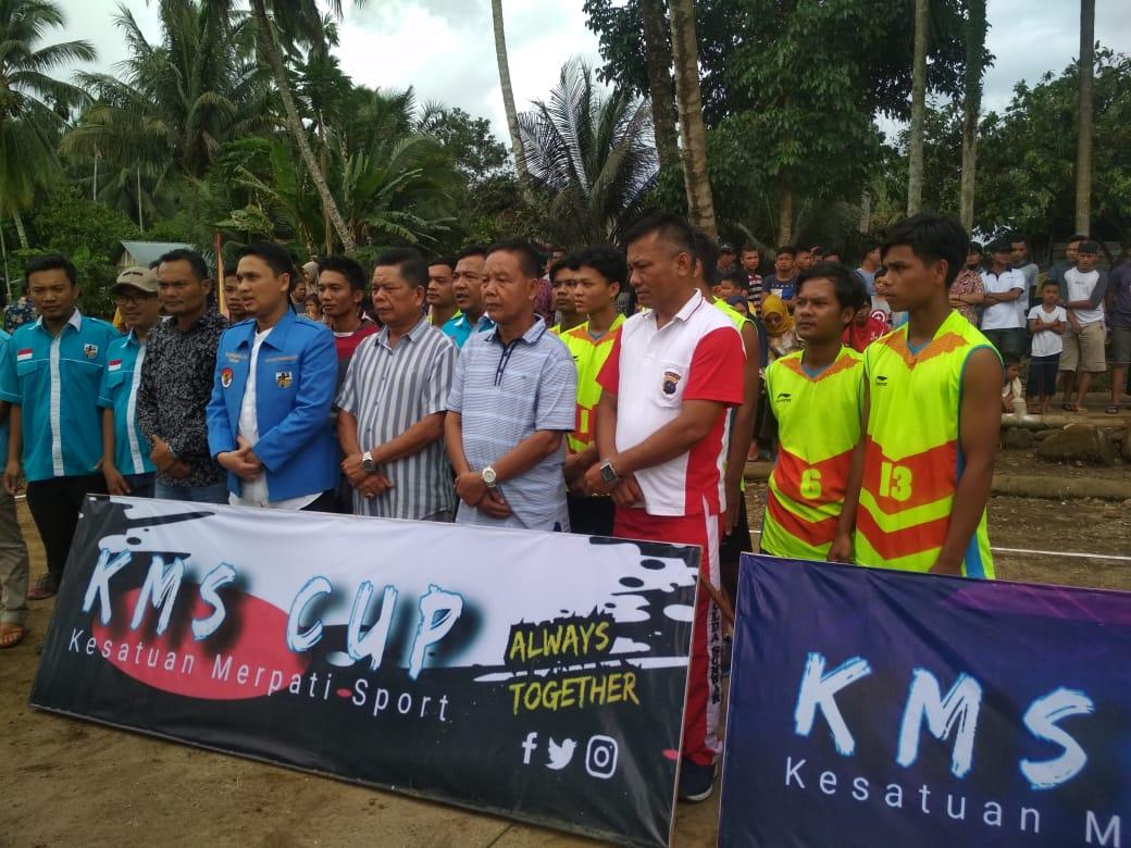 Ketua KNPI Pasbar Muhammad Guntara SH menghadiri turnamen KMS dan IMAPSAK