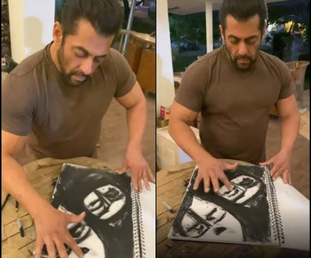 CoronaVirus Pandemic: Salman Khan did this amazing sketching in two minutes, watch video