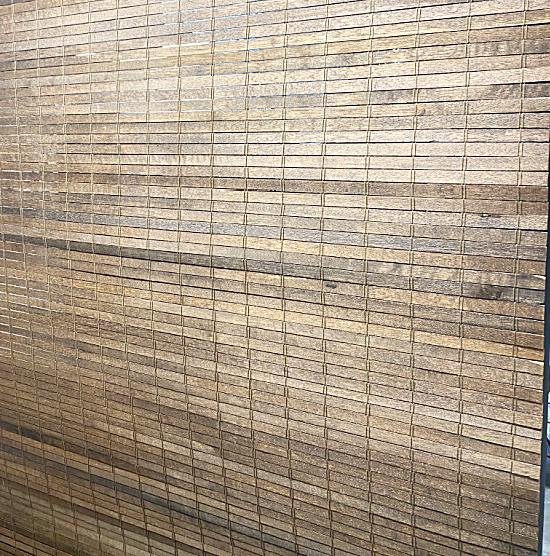 wooden slat shade