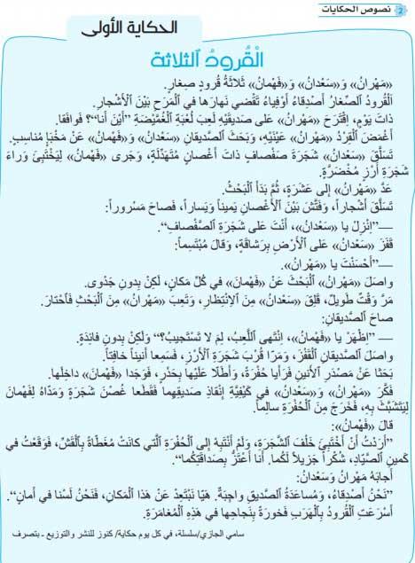 حكاية-القرود-الثلاثة-مرشدي-في-اللغة-العربية-المستوى-الثالث