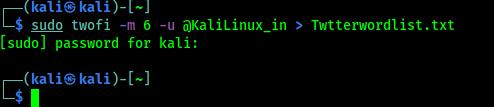twofi task completed on Kali Linux
