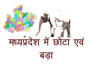 Small and Big in Madhya Pradesh in HIndi