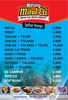 banner menu mitul
