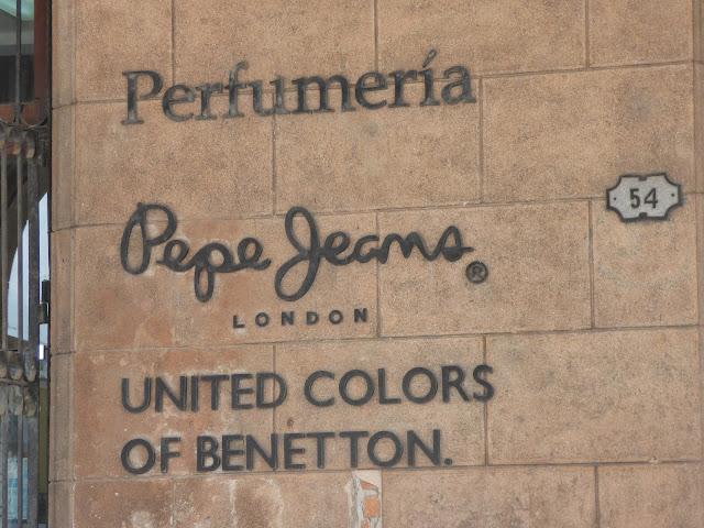 Designer clothes stores in Plaza Vieja, Havana, Cuba