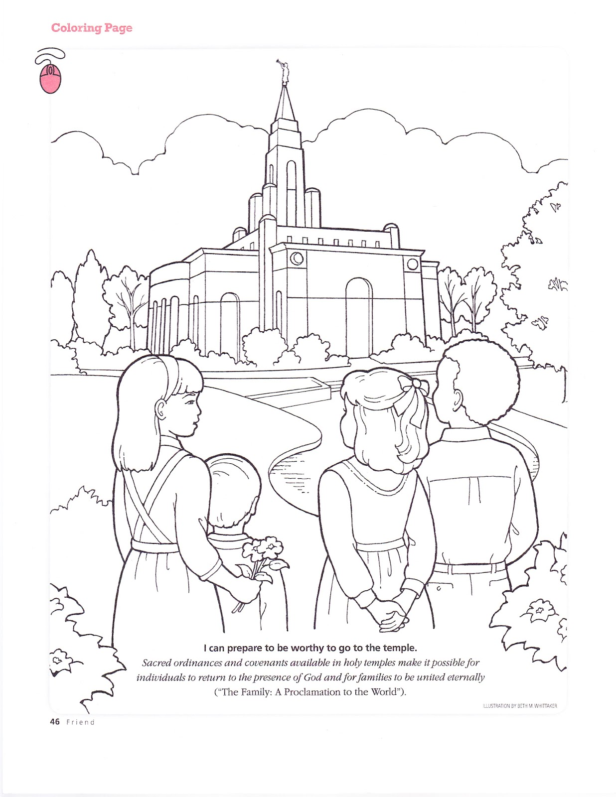 Red Rock Relief Society: Temple pages