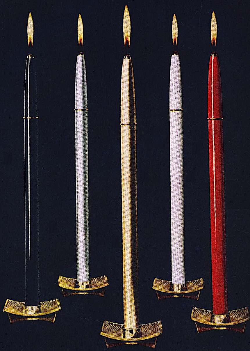 Stardust butane candles 1964, color photograph advertisement