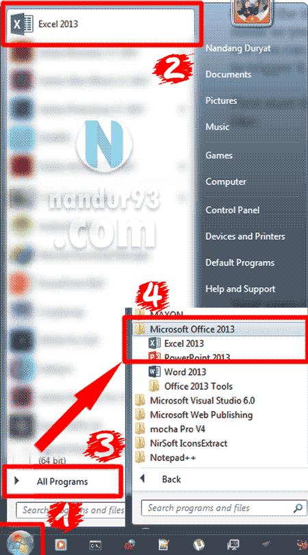 Microsoft Excel Bagi Pemula Menu Excel Nandur93