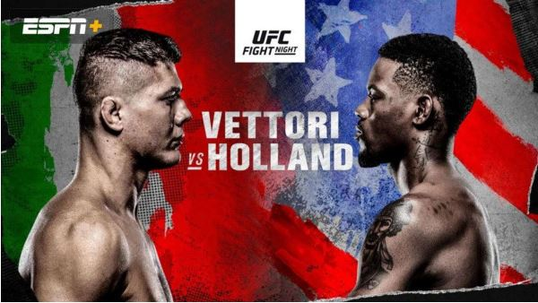 UFC FightNight on ABC 2 : Vettori vs. Holland – 10 April 2021 Live Stream