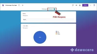 cara melihat hasil google form lewat drive