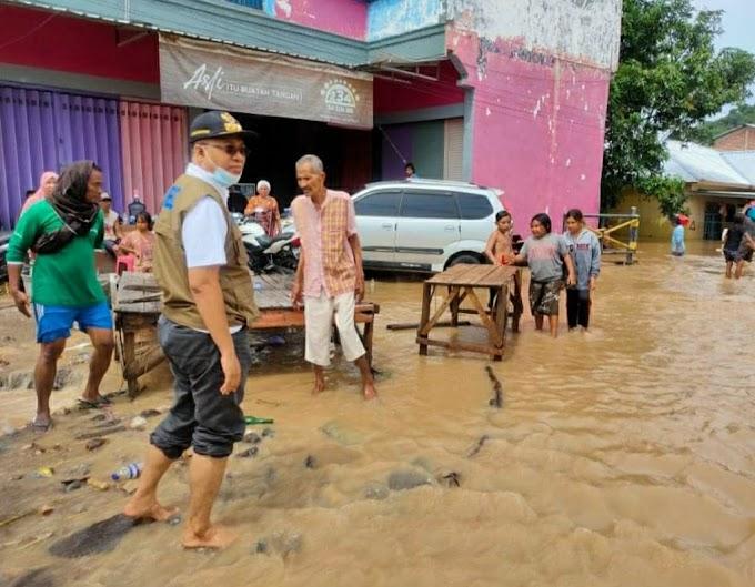Gubernur NTB Ditemani Bupati Turun Langsung Tinjau Lokasi Banjir di Kabupaten Bima