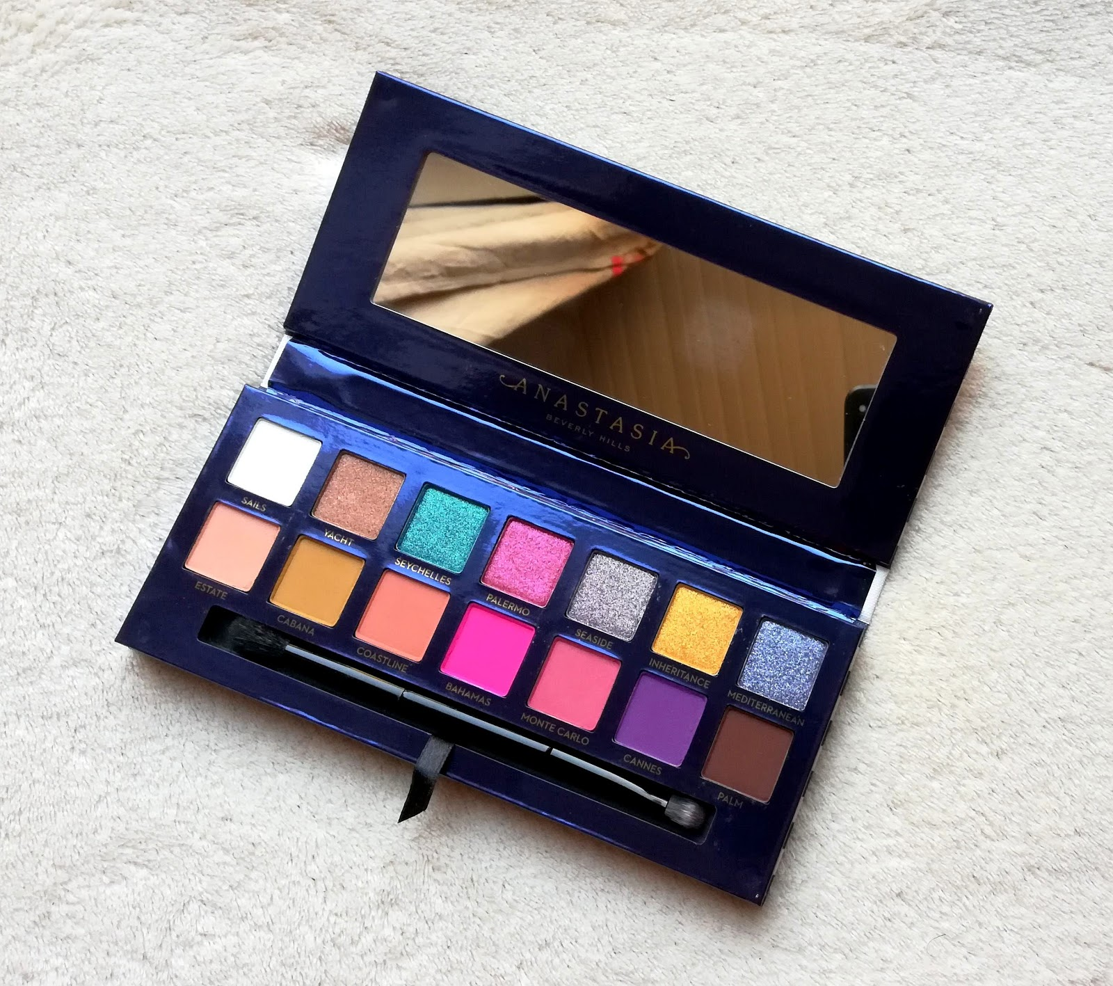 La Riviera palette d'ANASTASIA BEVERLY HILLS! Swatch & make up