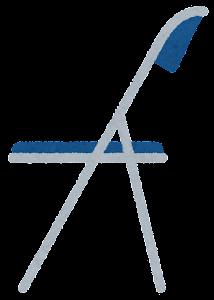 パイプ椅子のイラスト(横)