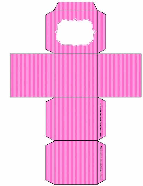 Cajas de Rayas Rosa para imprimir gratis.