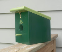 hunter green wood hanging birdhouse handmade?ref=shop_home_feat_1