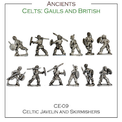 CE-09 Celtic Javelin and Skirmishers - Singles - (32 Singles figures + 4 bases)