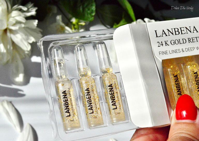 LANBENA 24K Gold Retinol Ampoule - Przeciwzmarszczkowe serum liftingujące recenzja