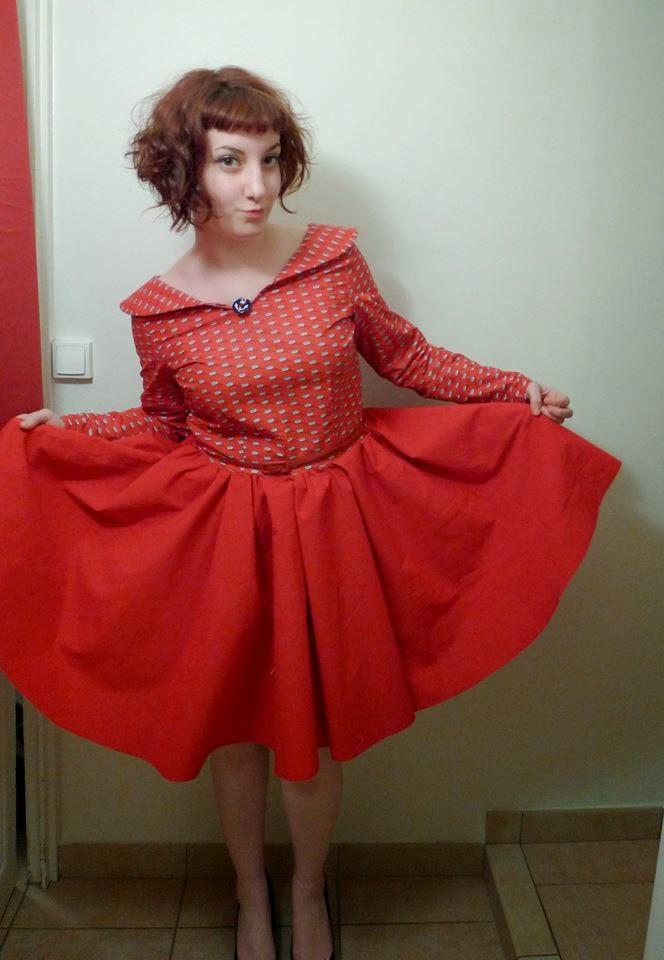 le dressing de sarablabla fabrication d 39 une robe vintage 50 39 s. Black Bedroom Furniture Sets. Home Design Ideas
