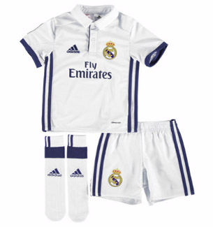 equipación niños Real Madrid 2016-2017 camiseta pantalones medias