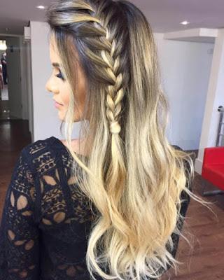 peinado con trenza de lado elegante suelto tumblr