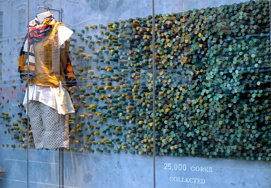 Anthropologie corks displays