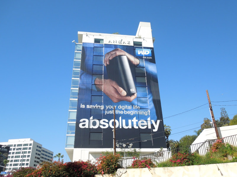 Giant WD absolutely billboard Andaz Hotel
