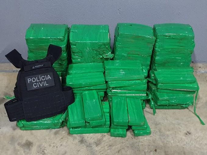 Laranjeiras do Sul: Polícia Civil apreende 150 kg de maconha neste domingo, 19