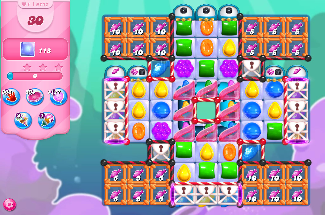 Candy Crush Saga level 9151