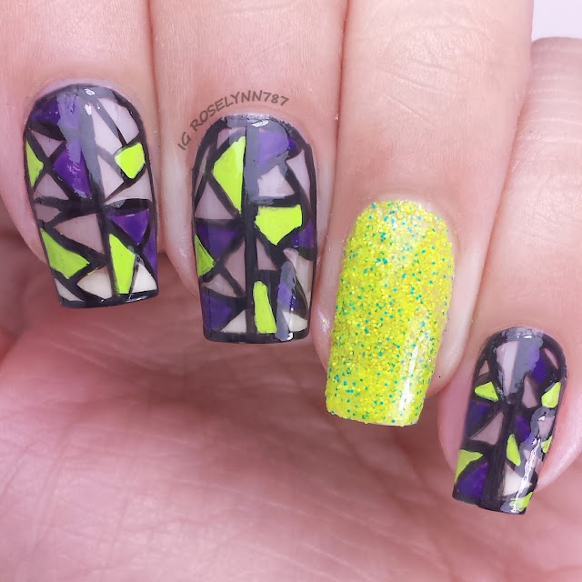 Freehand Nail Art Challenge: Complementary Colors