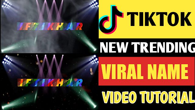 How To Create Viral Tiktok Name Video