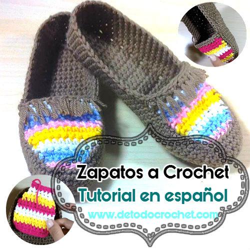 tejidos a crochet, con detalle de flecos en la capellada, con tutorial ...