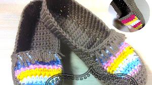 Zapatillas Tejidas a Crochet / Tutorial Completo en Español