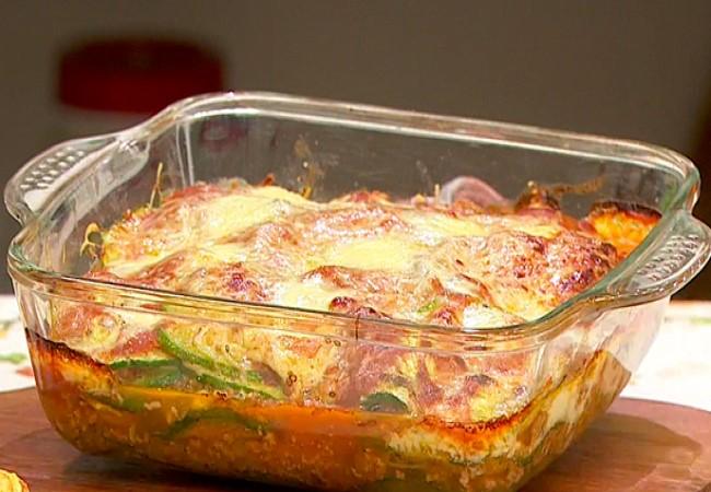 Lasaña de zapallitos y carne picada sin gluten