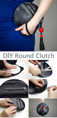 DIY Round Clutch Purse Bag Tutorial