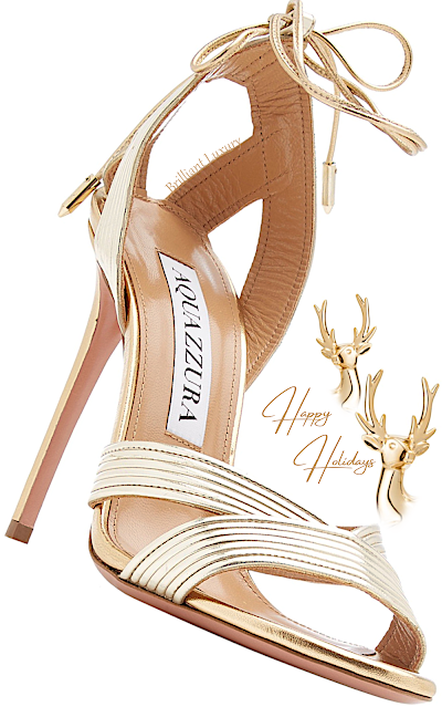 Aquazzura Ari golden leather sandal #brilliantluxury