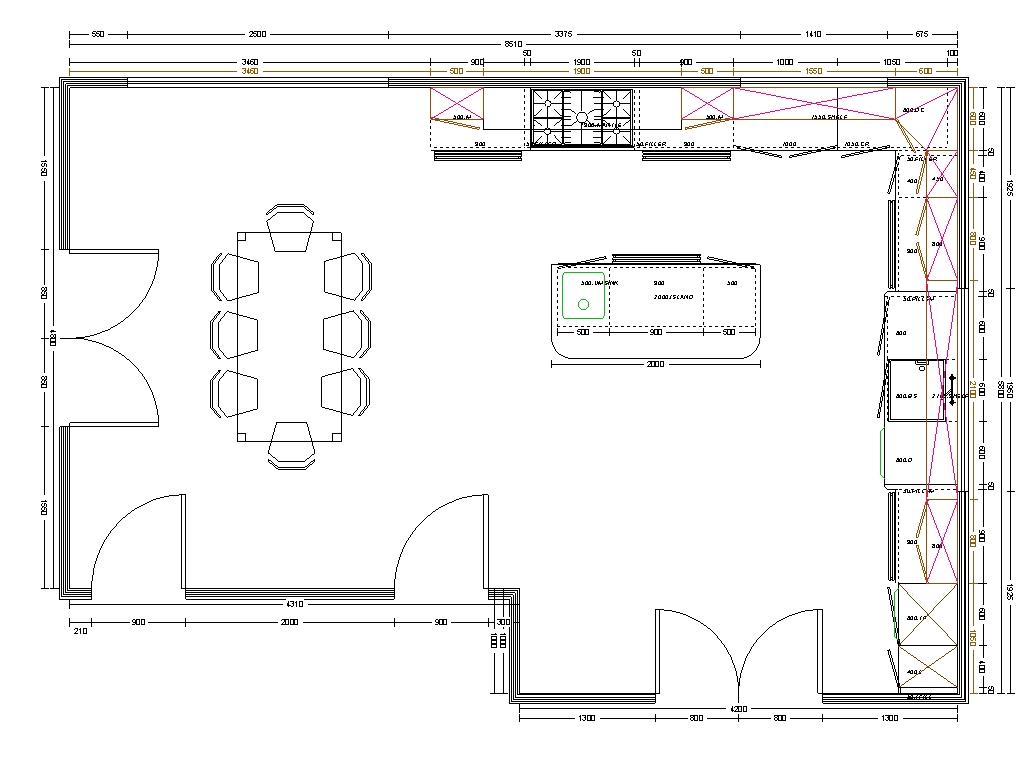 kitchen layout planner | luck interior