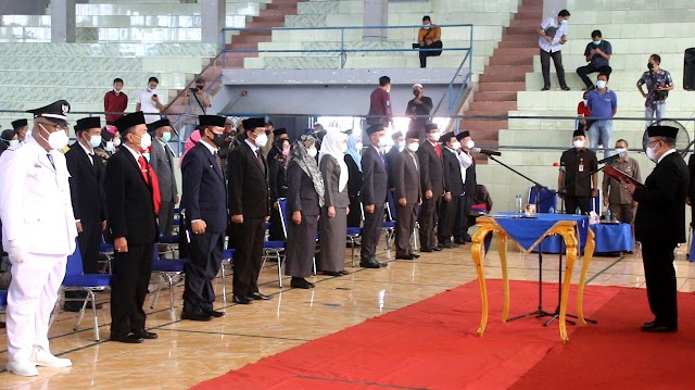 Sekda Lampura Lantik 102 Pejabat di Lingkungan Pemkab Lampung Utara