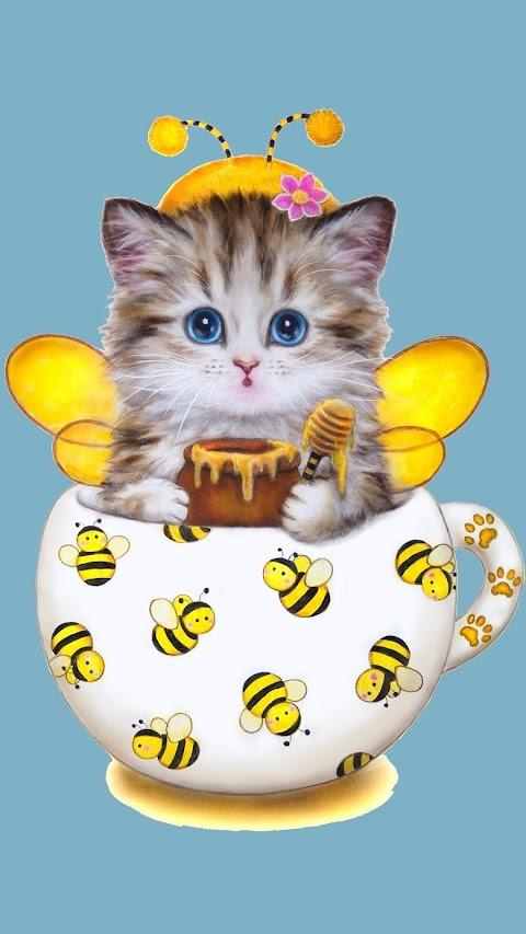 Hình Nền 3D Điện Thoại Chú Mèo Bé Nhỏ