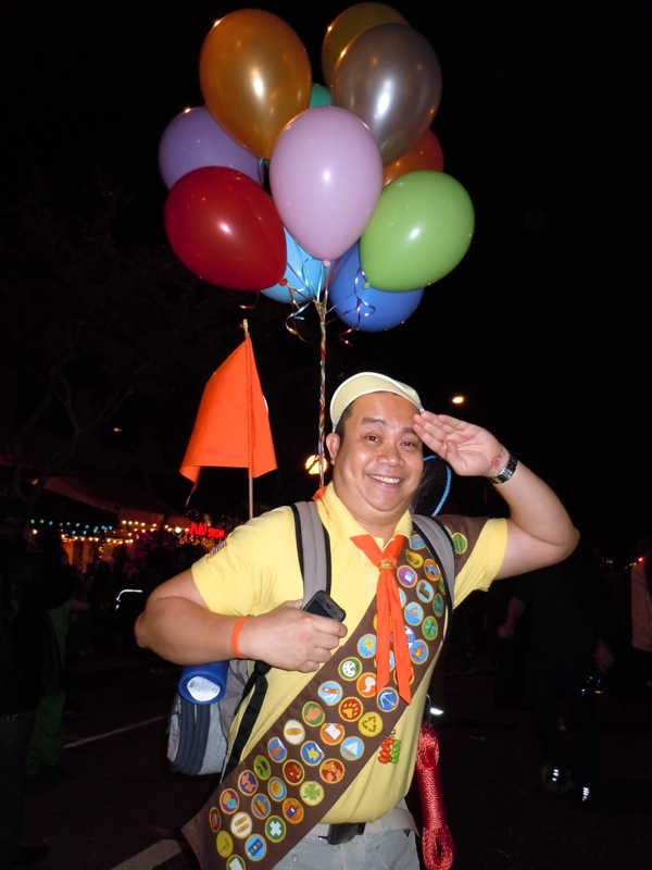 Russell Wilderness Explorer UP costume West Hollywood Halloween Carnaval