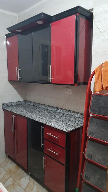 أفضل تصميم مطبخ ألوميتال 3 مقاس  150 سم