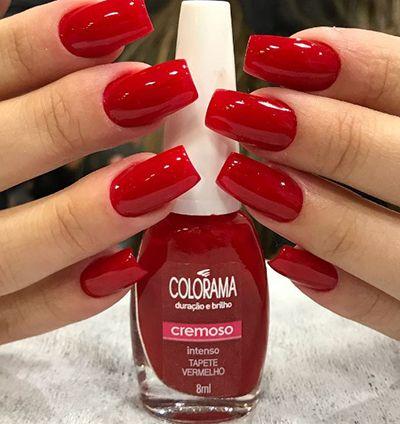 esmalte tapete vermelho da colorama