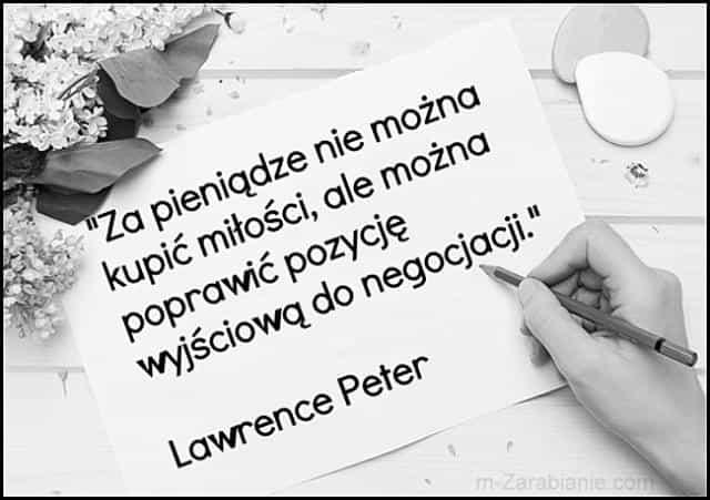 Lawrence Peter, cytaty o pieniądzach i miłości.